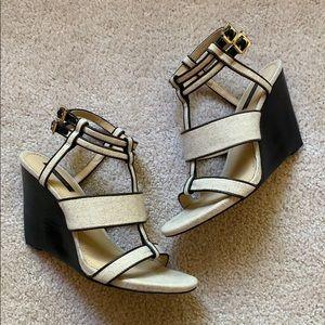 Rachel Zoe Wedge Sandals, Size 7.5